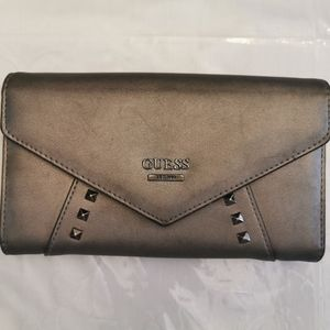 Guess Gray Studded Faux Leather Wallet